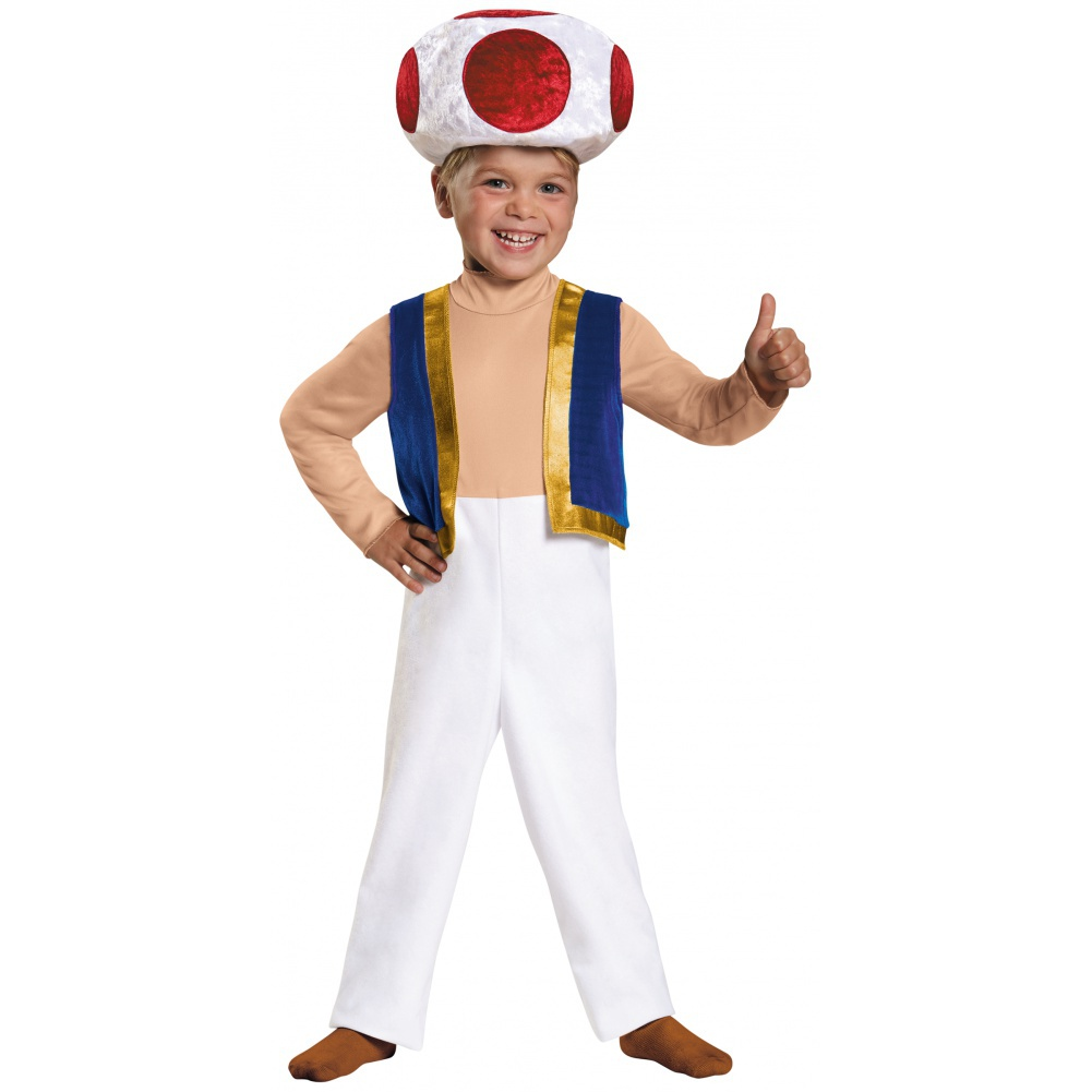 kids toad costume male mario brothers halloween