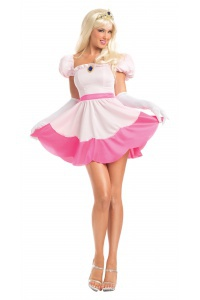 Adult Princess Peach Costume  sc 1 st  CostumeBliss & Sexy Princess Peach Costume Adult