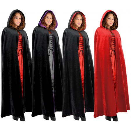 Hooded Velvet Cloak image