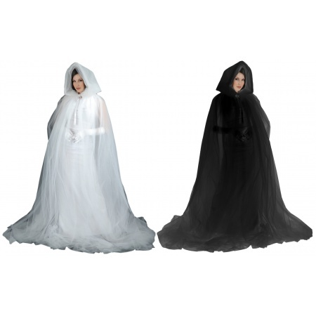 Sheer Hooded Cloak image