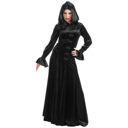 Gothic Hooded Dress Vampire Costume image