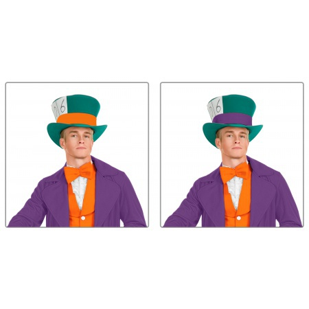 Mad Hatter Costume Accessory Top Hat Fancy Dress image