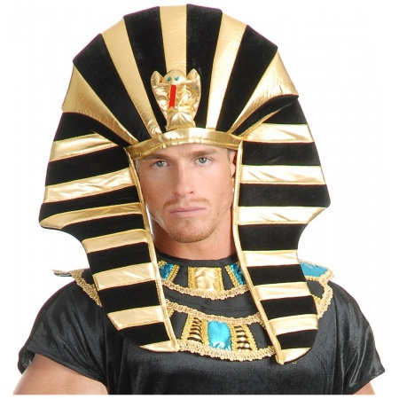Egyptian Headpiece Costume Accessory King Tut Pharaoh Sphinx Hat image