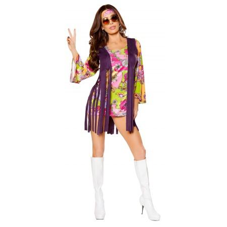 Womens Sexy Hippie Costume image