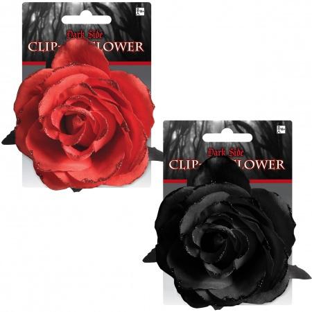 Black Rose Hair Clip image