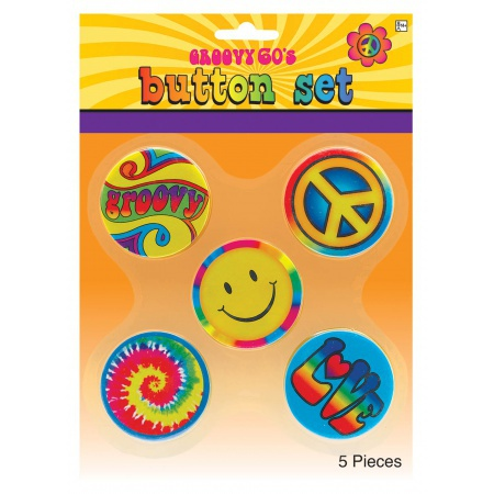 Hippie Buttons image