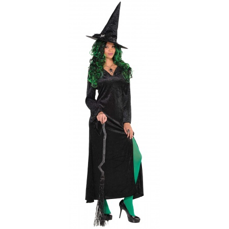 Long Gothic Dress Witch Costume image