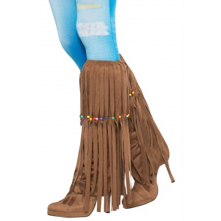 Hippie Costume Fringed Leg Warmers image