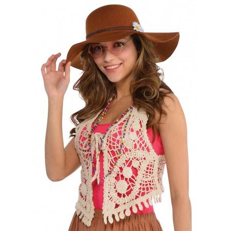 60s-70s Costume Hippie Vest image