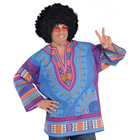 Mens Hippie Costume Shirt image