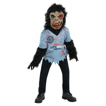 Kids Zombie Chimp Costume image