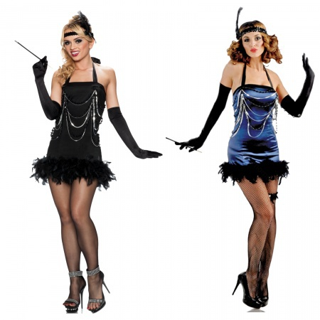 Sexy Flapper Girl Dress image