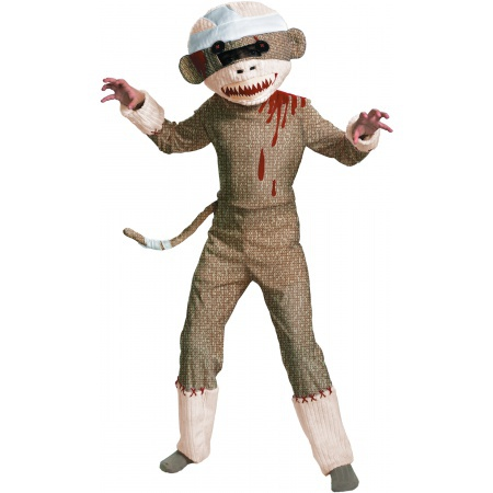 Zombie Sock Monkey Costume image