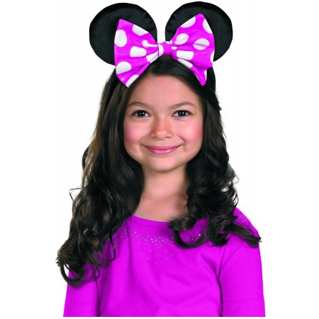 Minnie Mouse Ears Costume Accessory Reversible Pink/Red Bow image