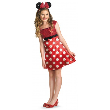 Minnie Mouse Costume Disney Red Polka Dot Dress image