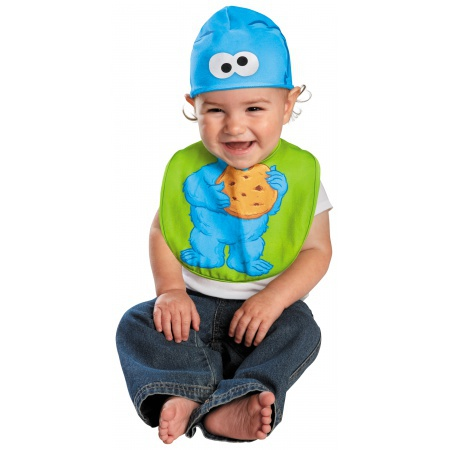 Cookie Monster Bib & Hat Costume image