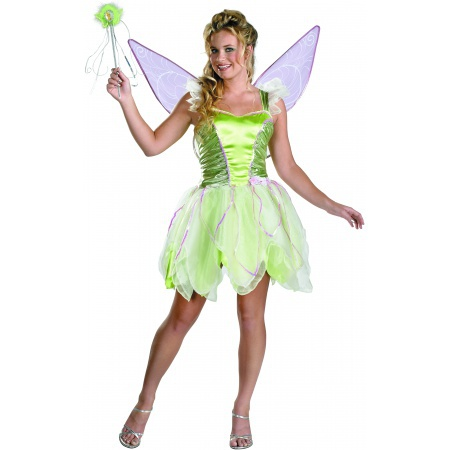 Tinker Bell Deluxe Costume Green Fairy Pixie image