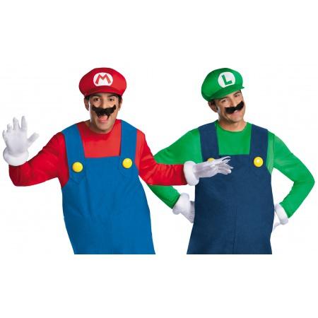 Adult Mario And Luigi Costumes image
