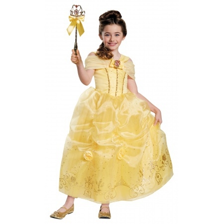 Princess Belle Costume For Girls image