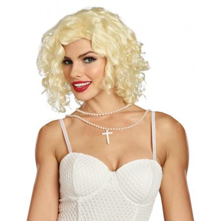 Blonde 80s Pop Star Wig image