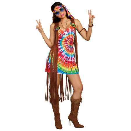 Female Hippie Costume image