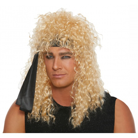 80s Glam Rock Costume Wig image
