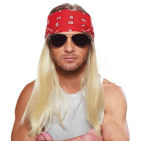 80s Rocker Wig And Bandana image