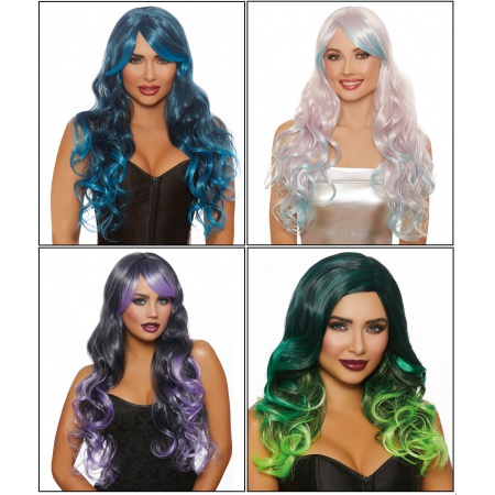 Long Wavy Ombre Wigs image