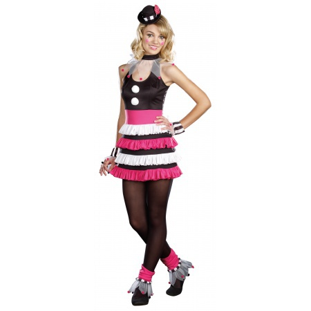 Teen Girls Clown Costume image