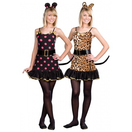 Teen Reversible Cat And Mouse Costume image