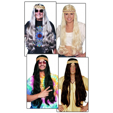 Long Hippie Wig image