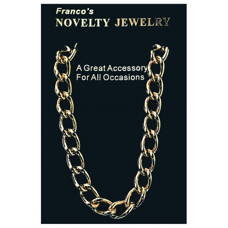 Gold Plastic Chain Necklace image