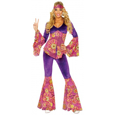 Adult Hippie Girl Costume image