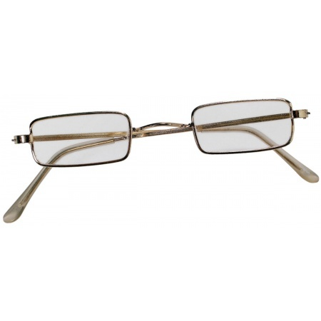 Rectangular Wire Rim Costume Glasses image