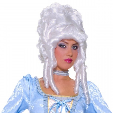 Deluxe Marie Antoinette Wig Costume Accessory White Colonial image