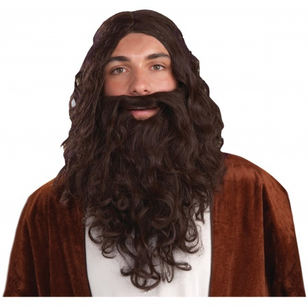 Biblical Wig & Beard Set Costume Accessory image