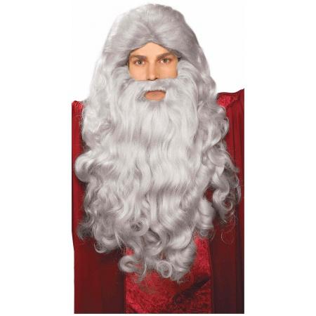 Grey Moses Wig & Beard Set Costume Accessory image