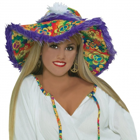 Floppy Hippie Hat Costume Accessory image