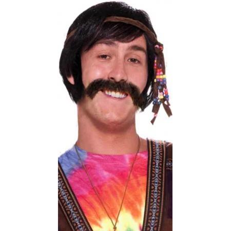 Hippie Moustache Costume Accessory image