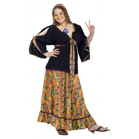 Hippie Costume Plus Size  image