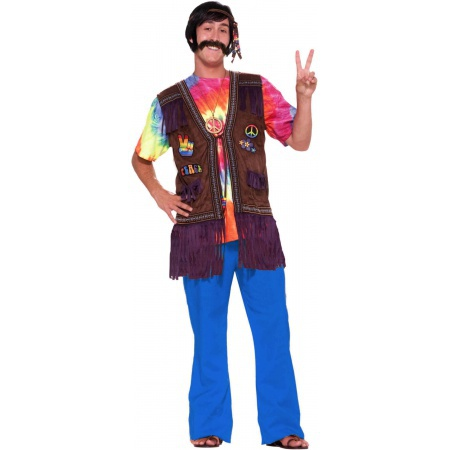 Hippie Guy Costume Vest image