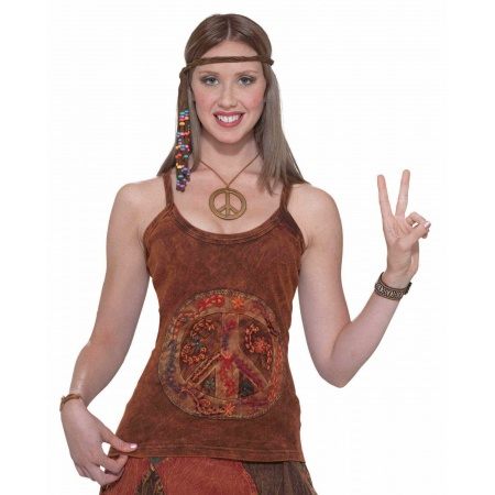 Hippie Peace Sign Tank image