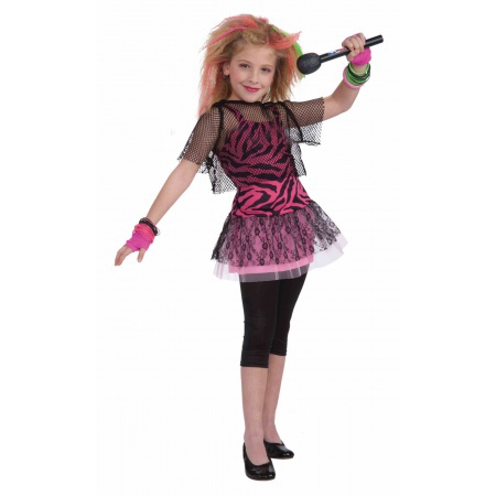 80s Rock Star Girl Costume image