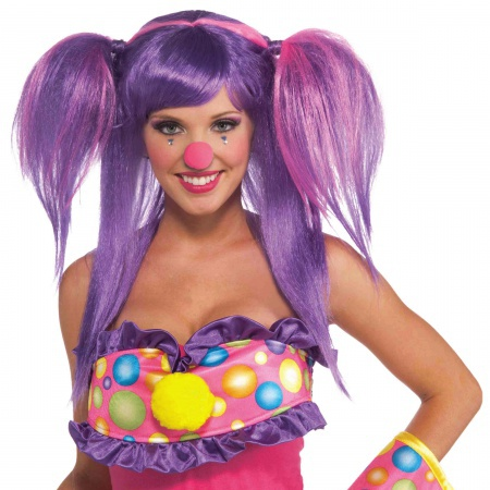 Circus Sweetie Berry Bubbles Wig Costume Accessory image