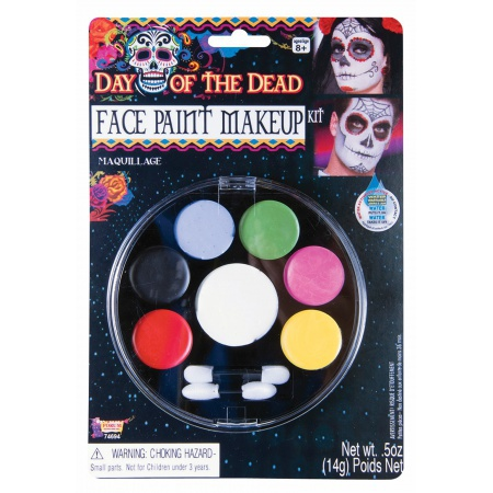Day Of The Dead Face Paint Makeup Costume Makeup image