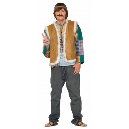Unisex Faux Fur Trimmed Hippie Vest image