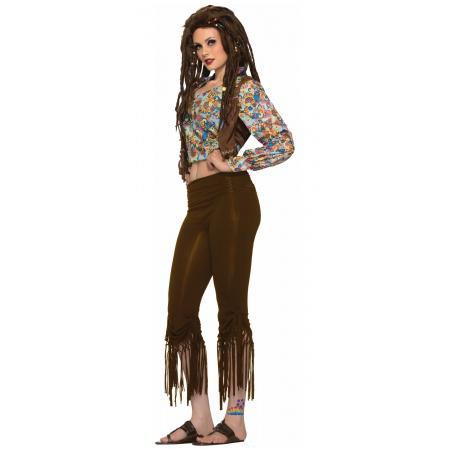 Fringed Hippie Pants Costume image