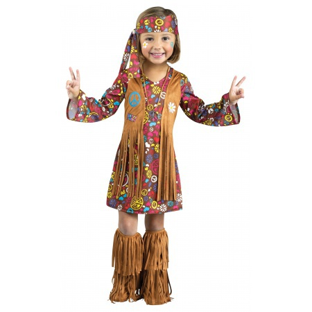 Hippie Costume For Toddler Girls image
