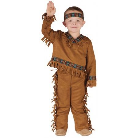 Toddler Indian Costume Boy image