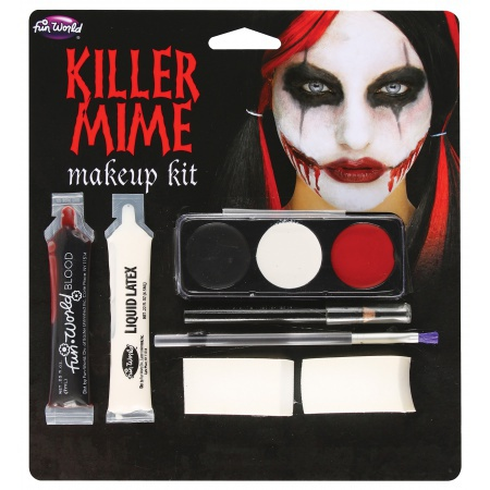 Scary Mime Makeup image